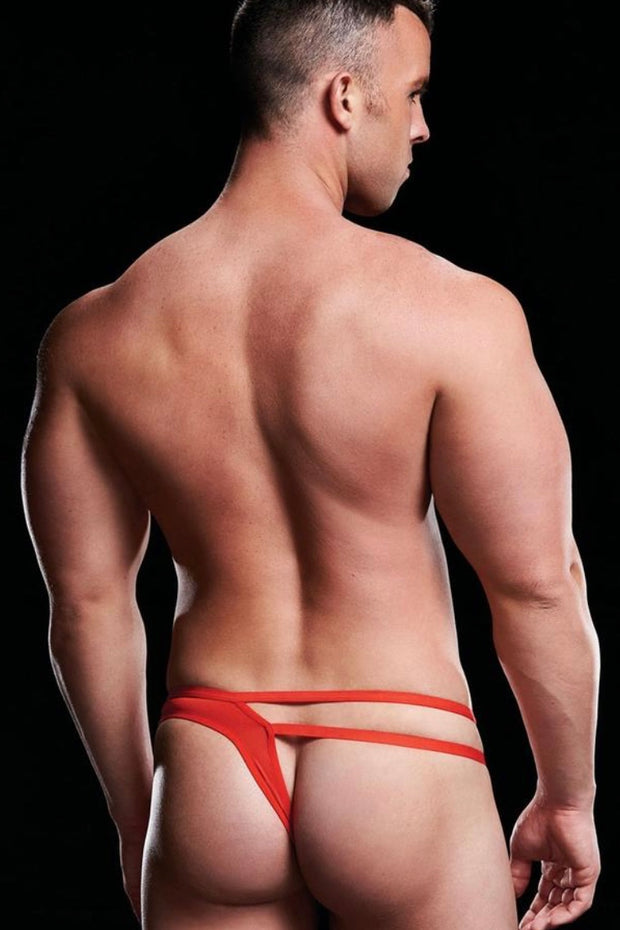 Low rise thong red