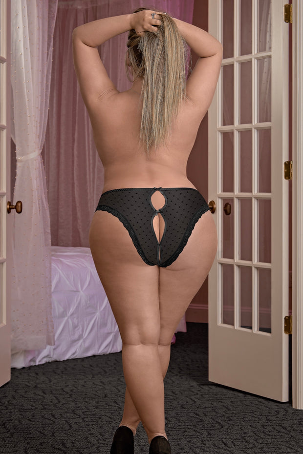 Crotchless Peek-a-Boo Panty - plus size panty - CurvynBeautiful