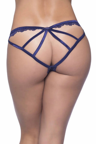 Cage back galloon lace boyshort astral - plus size panty - CurvynBeautiful