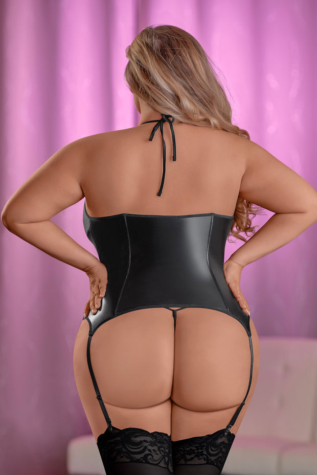 Zipper Merry Widow Corset & G-String