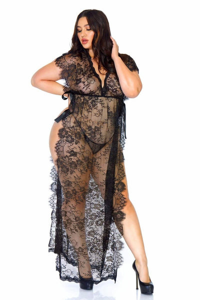 Lace Long Kaftan Robe