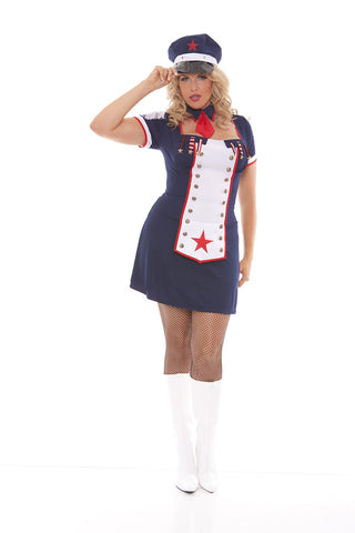 Naval Knockout - plus size costume - Curvynbeautiful Plus size lingerie - 2