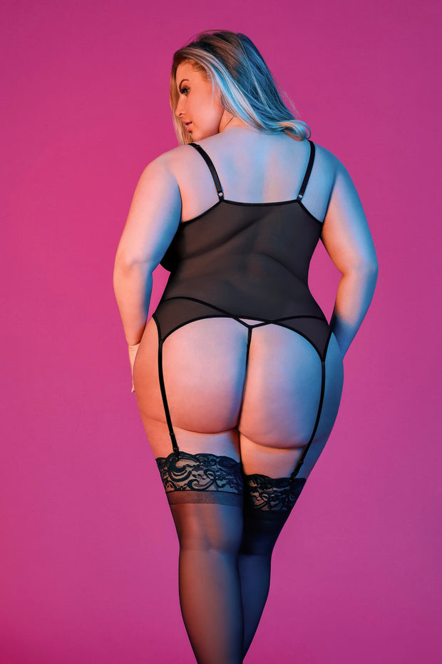 Merry Widow & G-set Sexy time - plus size corset - CurvynBeautiful