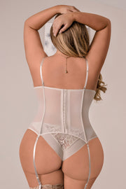 Nude corset and g-string