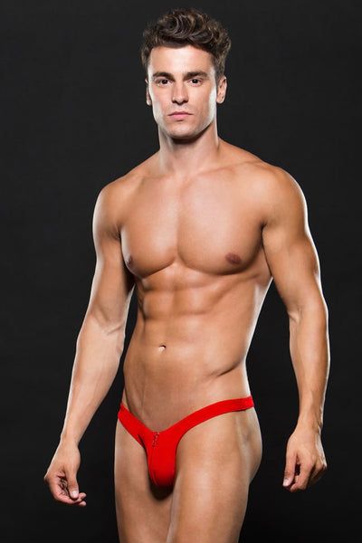 Microfiber low rise thong red