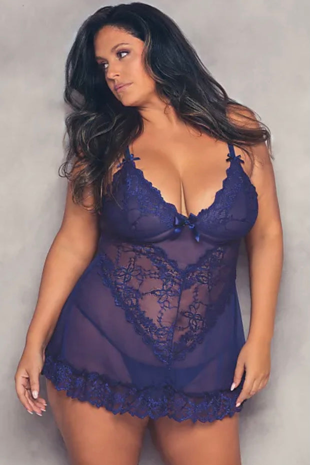 Valentine Babydoll estate blue