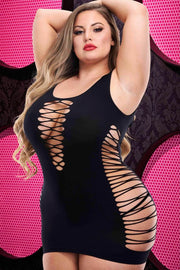 Criss cross Mini dress black