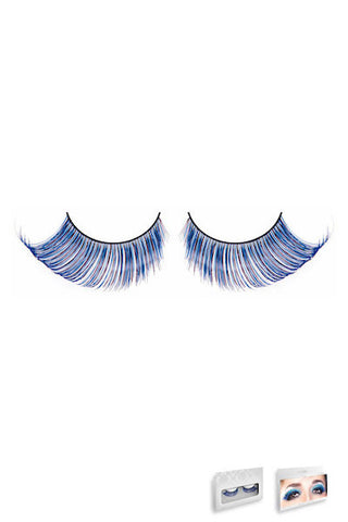 Light-Blue Feather Eyelashes - Eyelashes - Curvynbeautiful Plus size lingerie - 2