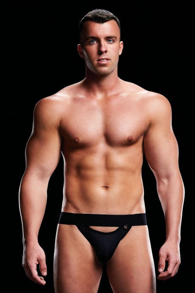 Low rise jock black