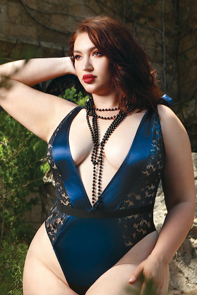 Frostbite teddy - plus size teddy - CurvynBeautiful
