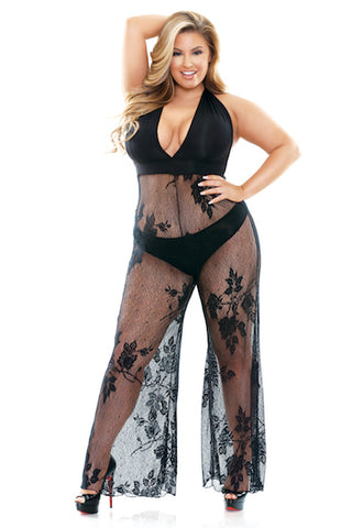 Nicki Jumpsuit - plus size gown - CurvynBeautiful
