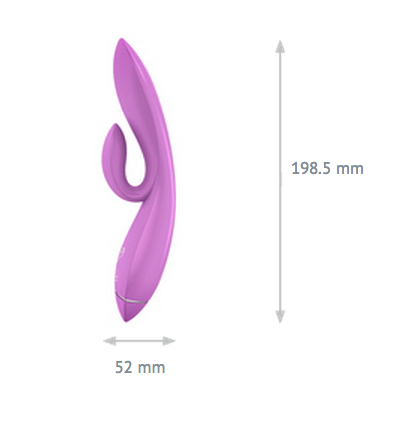 Ovo K1 Silicone Rabbit Waterproof - Life Style Toys - Curvynbeautiful Plus size lingerie - 5