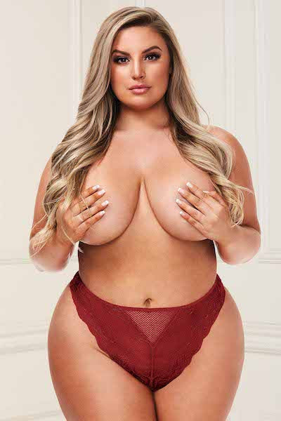 Lace panty wine - plus size panty - CurvynBeautiful