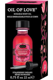Oil of love strawberry - Massage oil candle - CurvynBeautiful