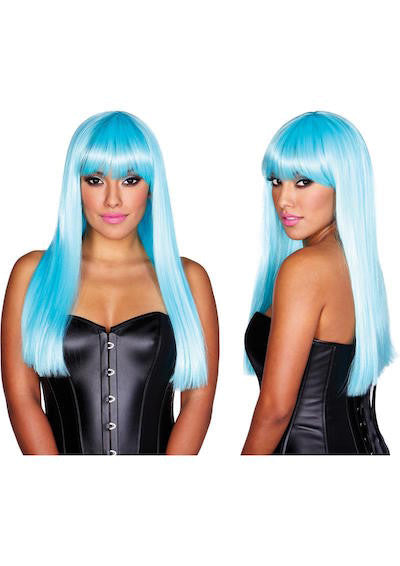 Star blue wig - Gloves-Jewels - CurvynBeautiful