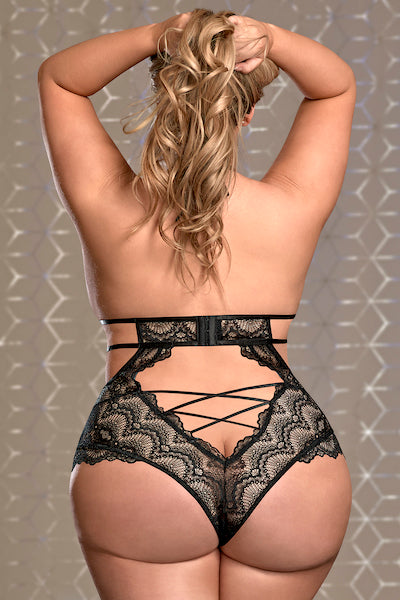 Teddy with Snap Crotch pure lace