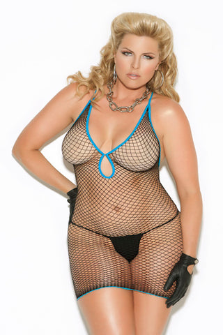 Diamond net mini dress. - Dress - CurvynBeautiful
