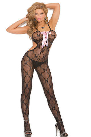 Bow tie lace Bodystocking, size O/S Queen 1X3X