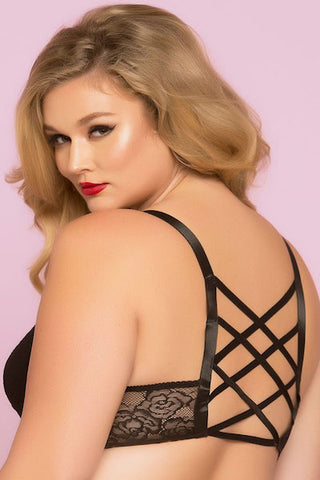 Lace bralette Black - plus size bra set - CurvynBeautiful