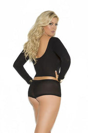 Long sleeve cami top and booty shorts - plus size cami - CurvynBeautiful