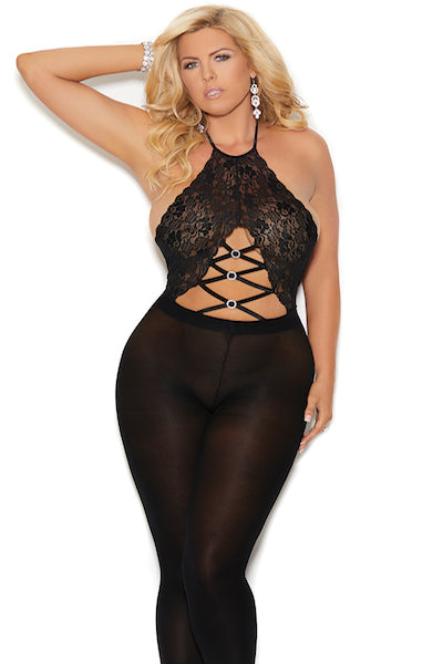 Footless bodystocking - plus size bodystocking - CurvynBeautiful