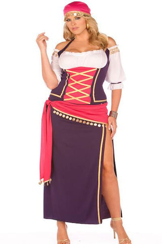 Gypsy Maiden Queen - plus size costume - CurvynBeautiful
