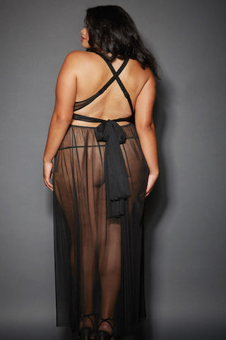 Grecian-style gown - plus size gown - CurvynBeautiful