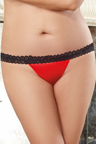 Heart panty red - plus size panty - CurvynBeautiful