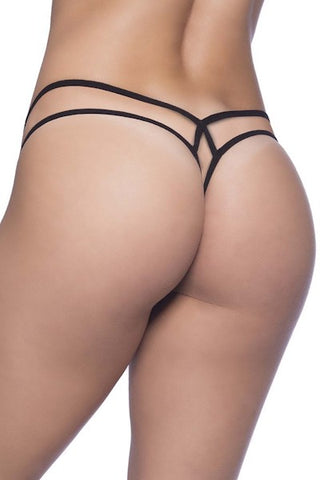 Lace thong Black