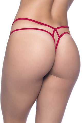 Lace thong red