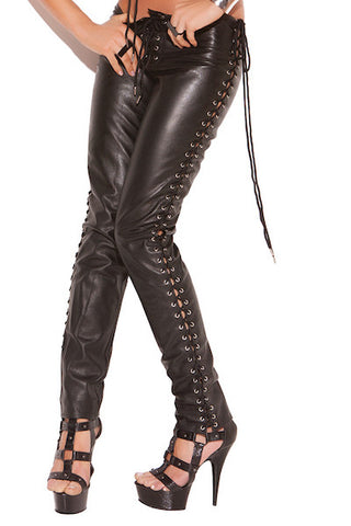 Leather pants - Leather-Vynil - CurvynBeautiful