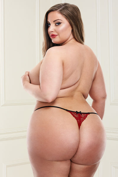 Love crotchless panty - plus size panty - CurvynBeautiful