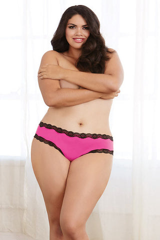 Microfiber cheeky panty - plus size panty - CurvynBeautiful