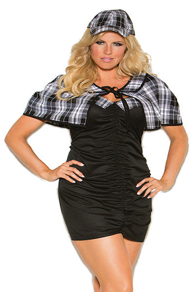 Sassy Detective - plus size costume - Curvynbeautiful Plus size lingerie - 1