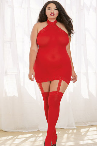 Sheer garter dress - plus size cami - CurvynBeautiful