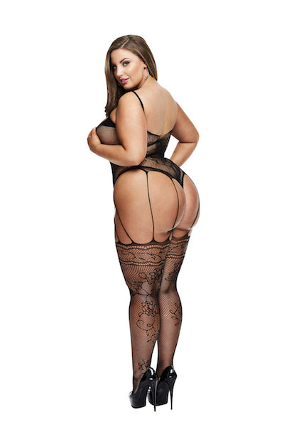 Strappy bodystocking - Bodystocking - CurvynBeautiful