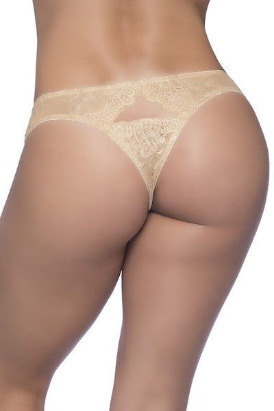 Lace thong Nude