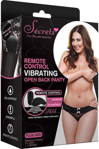 Vibrating Open back panty - Life Style Toys - CurvynBeautiful