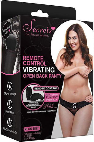 Vibrating Open back panty - Life Style Toys - Curvynbeautiful Plus size lingerie - 1