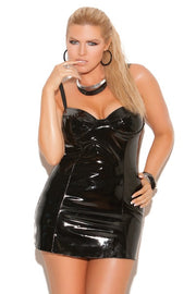 Vinyl mini dress - plus size vinyl - CurvynBeautiful