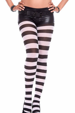 Wide striped tights - plus size pantyhose - CurvynBeautiful