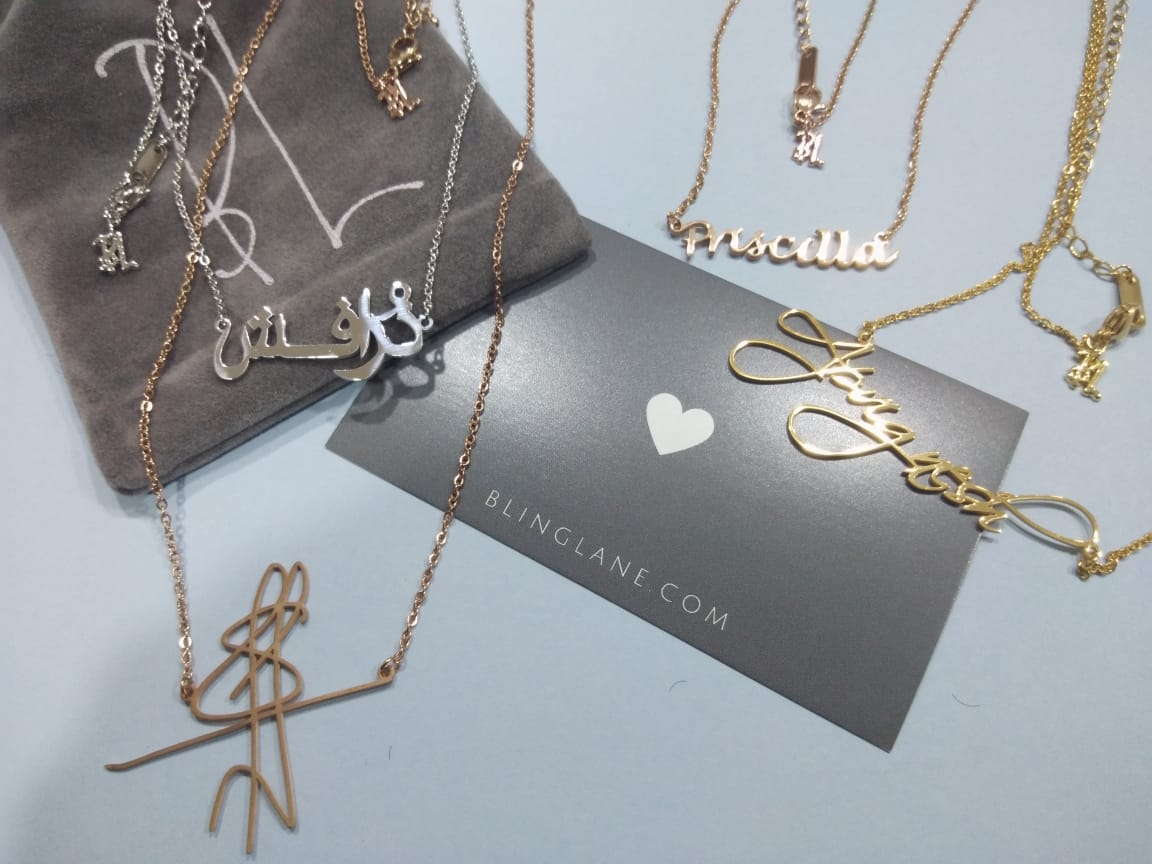 Blinglane Personalized Necklace & Bracelets