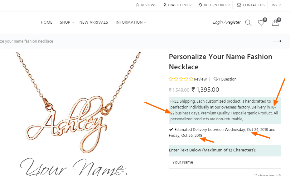 Blinglane Personalized Products