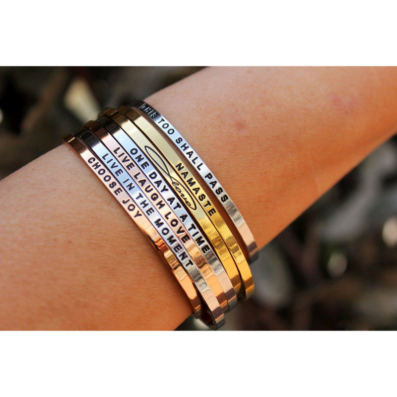 Personalize Your Name Elegant 3.5mm Cuff Bangle