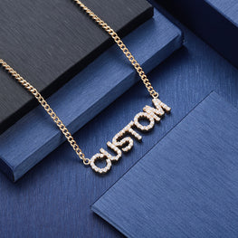Personalize Your Zircon Studded Name Fashion Necklace