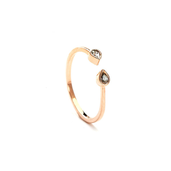 Bella Chic Studded Rose Gold Fashion Ring
