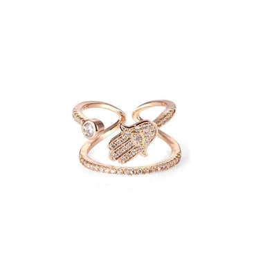 Amazing Hamza Charm Ring-Blinglane