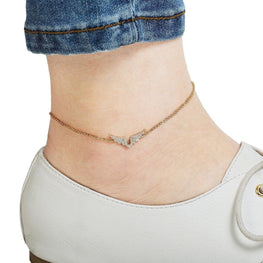 Angel Wings Studded Anklet-Blinglane