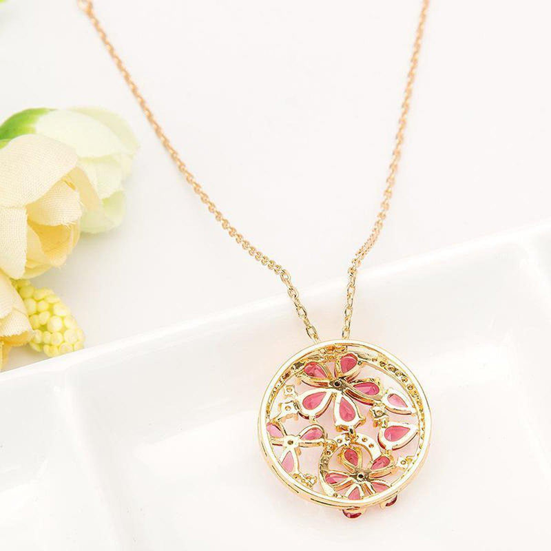 Bouquet of Rubies Pendant Necklace-Blinglane