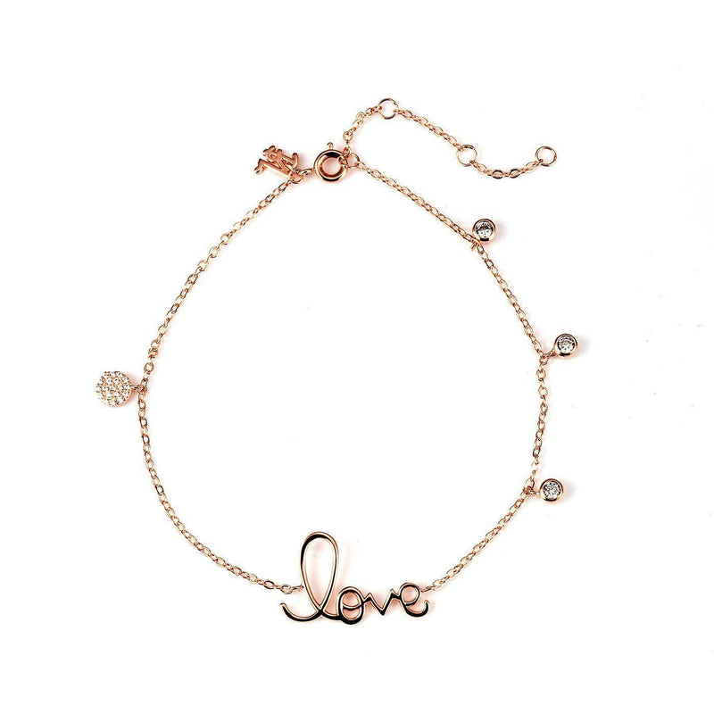 Charming Love Charm Anklet-Blinglane